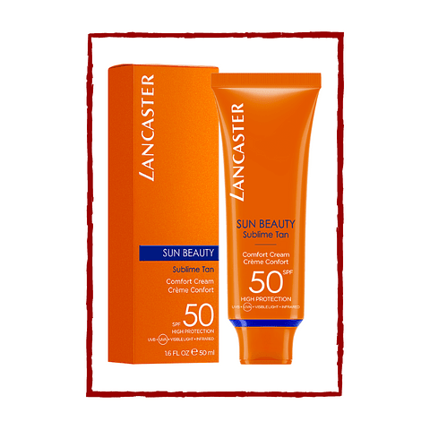 SUN BEAUTY comfort touch cream gentle tan SPF50