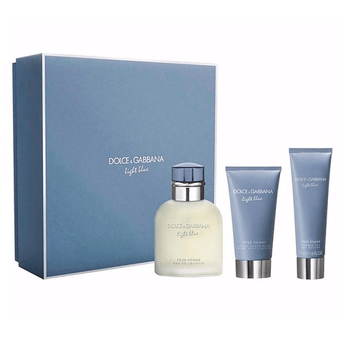 LIGHT BLUE POUR HOMME Coffret (EdT 75ml + After-Shave Balm 75ml + Shower Gel 50ml)