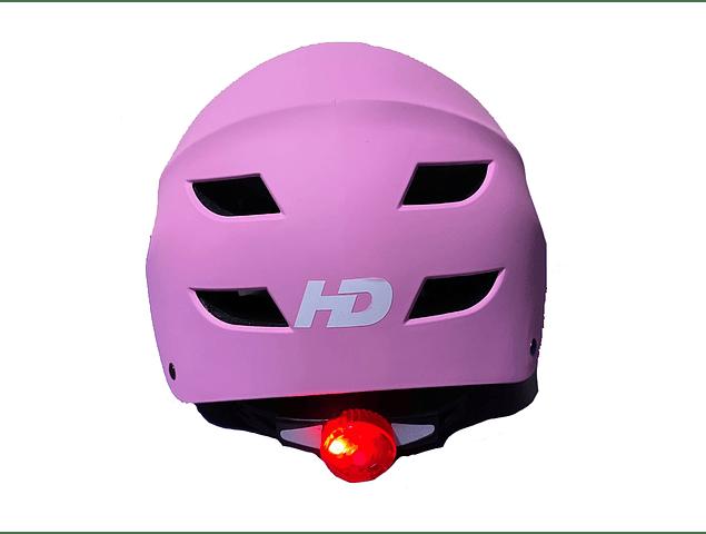 Casco Ajustable Con Luz Para Bicicletas, Skate, Patines