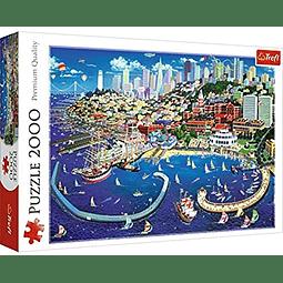 Bahía de San Francisco - 2000 piezas