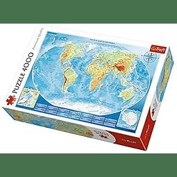 Gran mapa físico - 4000 piezas
