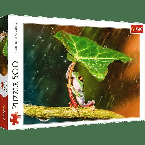 Paraguas verde - 500 piezas