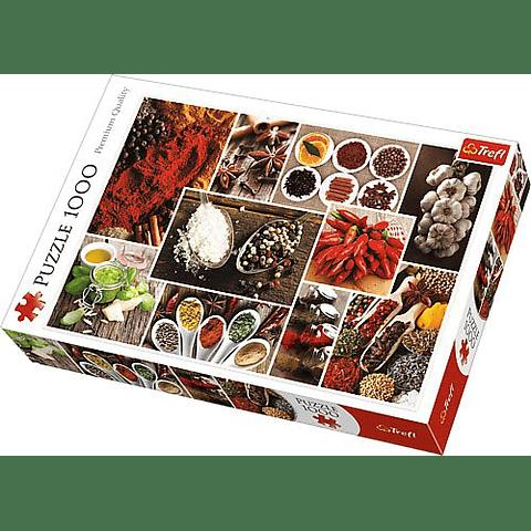 Collage de especias - 1000 piezas