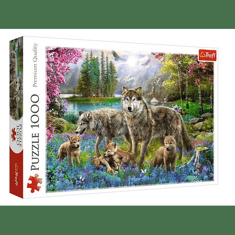 Familia de lobos - 1000 piezas