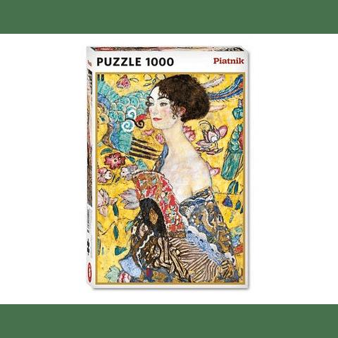 Mujer con abanico de Klimt - 1000 piezas