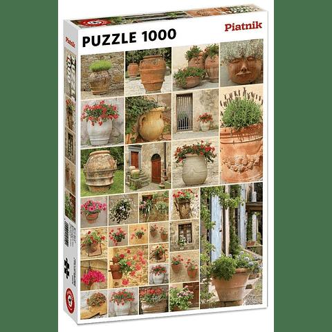 Maceteros con Flores - 1000 piezas