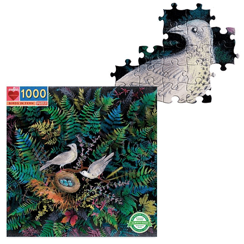 Pájaros en el nido - 1000 piezas