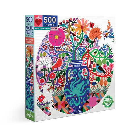 Pájaros y Flores - 500 piezas