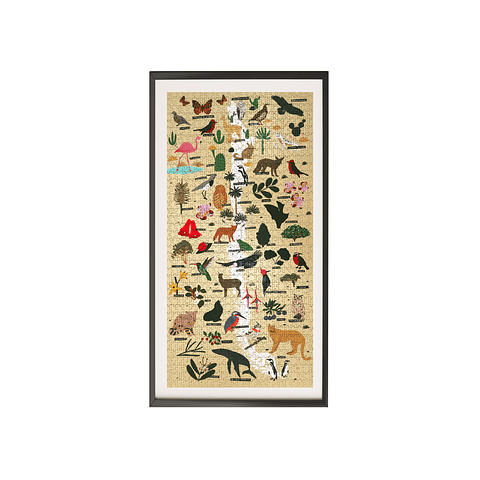 Mapa de Chile Flora y Fauna - 1000 Piezas
