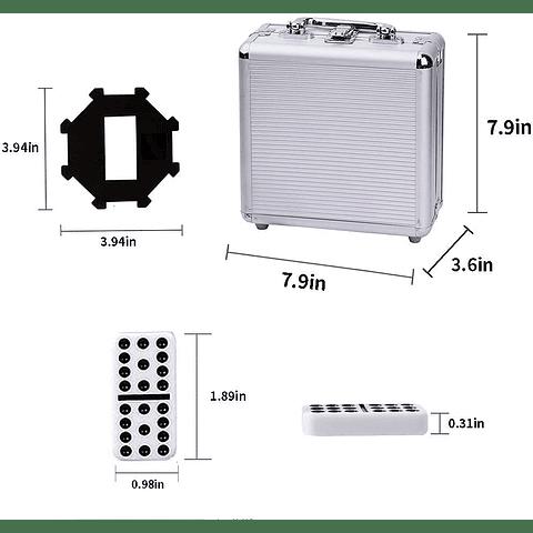Dominó Doble 12 - Maletín de Aluminio
