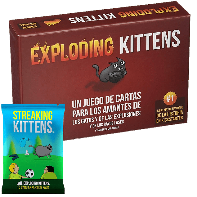 Exploding Kittens + Streaking Kittens