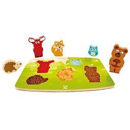 Puzzle táctil de animales del bosque