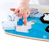Puzzle táctil de animales polares