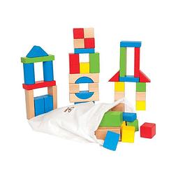 Set de bloques de madera 50 unidades