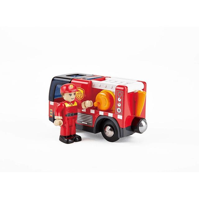 Camión de bomberos con sirena