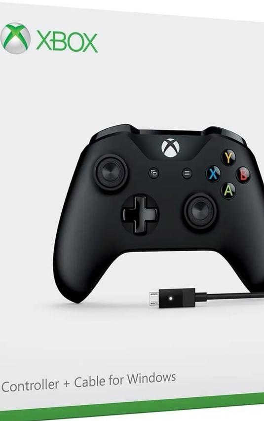 Control Xbox One S + Cable Usb Negro Bluetooth Windows Nuevo