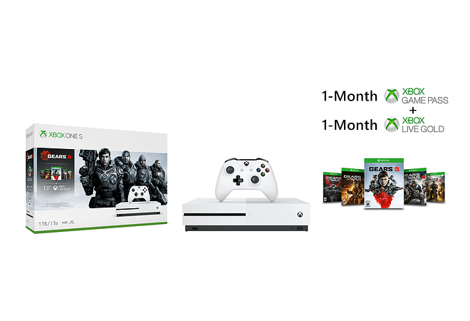 Xbox One S 1TB con Gears of War
