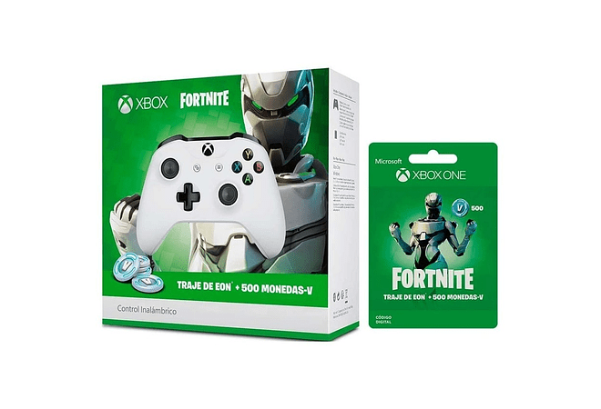 Control Xbox One S blanco +500 pavos y skin