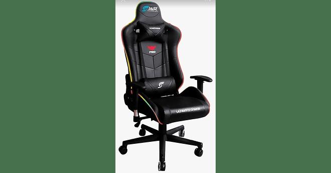 Silla Gamer J&R RGB negra