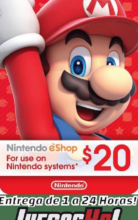 Nintendo Eshop 20usd USA Cuenta Estados Unidos