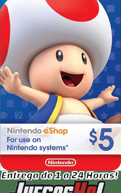 Nintendo Eshop 5USD USA Cuenta Estados Unidos