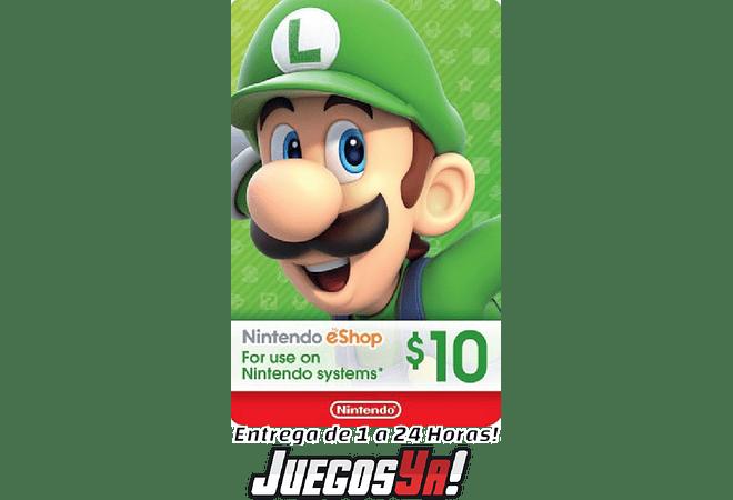 Nintendo Eshop 10Usd USA Cuenta ESTADOS UNIDOS ⬇️⬇️Leer Descripción