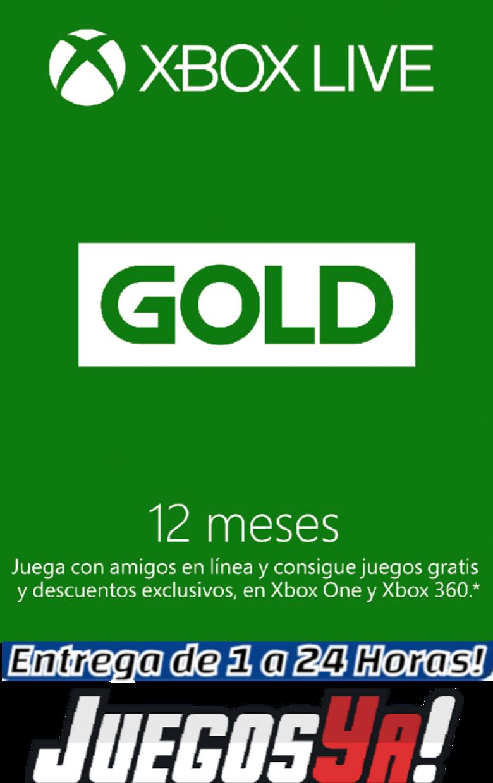 Código Xbox live Gold 12 meses