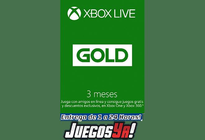 Xbox live Gold 3 meses USA