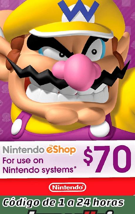Nintendo Eshop 70USD USA Cuenta Estados Unidos