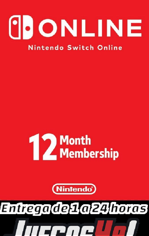 Código membresía Nintendo 12 meses USA Cuenta Estados Unidos
