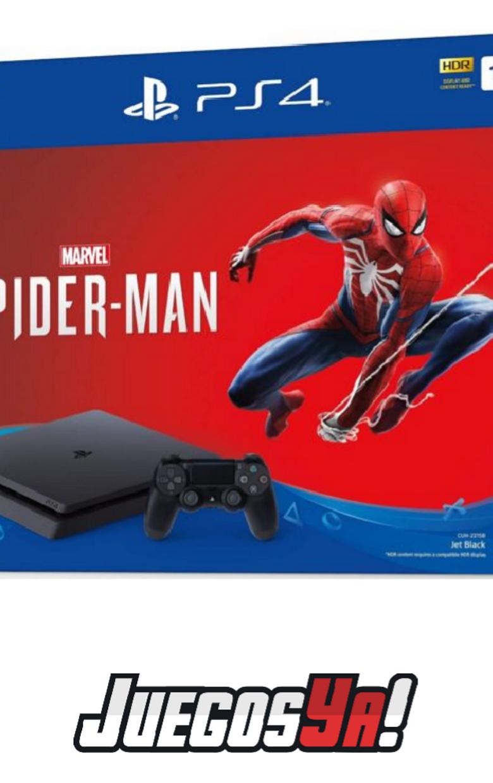 PS4 Slim Negra 1TB con 1 juego