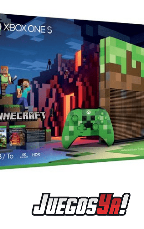Xbox one S 1TB Ed Minecraft
