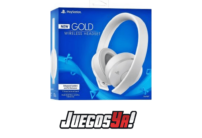 Diadema Gold Inalambrica PS4 Blanca