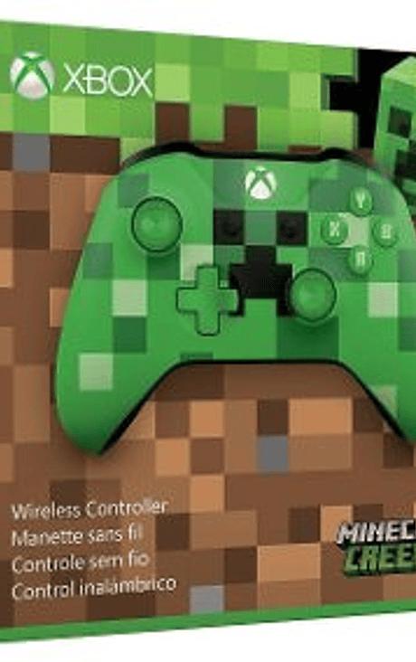 Control xbox one s Verde Minecraft CREEPER