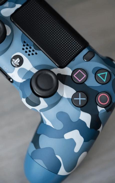 Control Ps4 camuflado azul 2a Gen