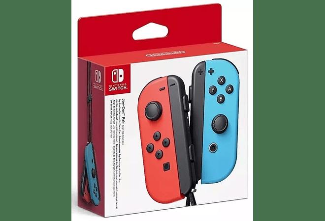 Control Nintendo Switch Joy-con Neon Azul Y Rojo
