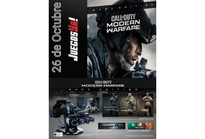 Call of duty modern Warfare Dark Edition Disponible!