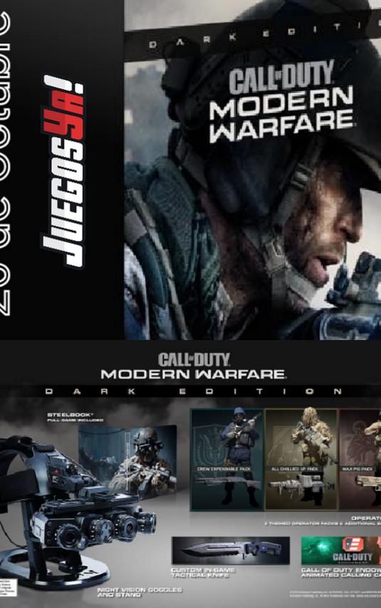 Call of duty modern Warfare Dark Edition PREVENTA!!