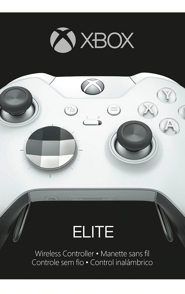 Control elite Xbox one Blanco (4 paletas)