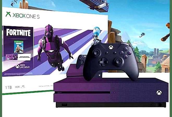 Xbox one s Ed Fortnite 1TB morada USADA