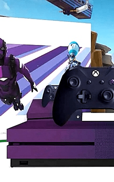 Xbox one s Ed Fortnite 1TB purpura SKIN +2000 pavos