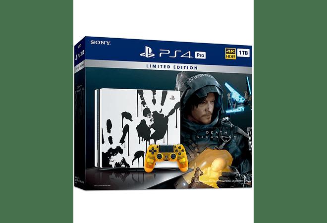 PS4 Pro Edición Death Stranding con un control nego incluye juego