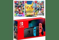 Nintendo Switch + 3 juegos Obsequio vidrio y Funda
