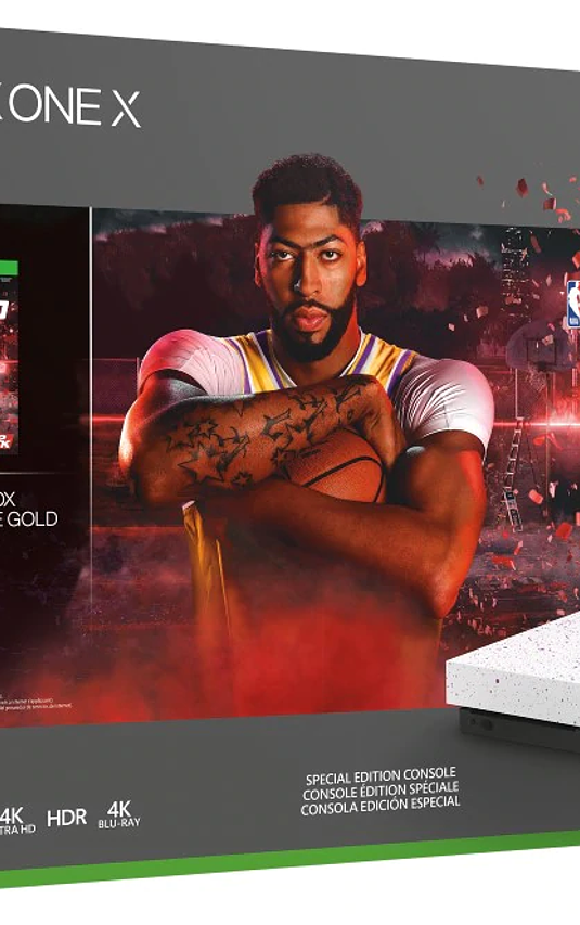 Xbox one X Ed Nba 2k20 1tb blanca