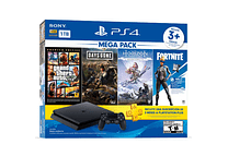 PS4 Slim Mega Pack 1TB Bundle 3 juegos+ membresía Plus 3 meses