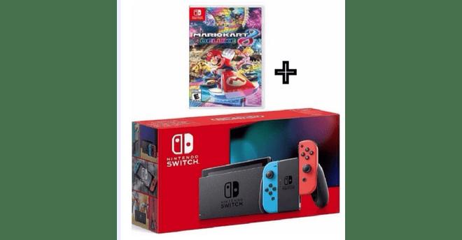 Nintendo Switch Neon caja Roja + 1 juego Fisico a elegir