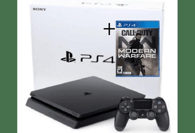 PS4 slim 1tb + Juego Fisico call duty Modern EspañolModern Warfare