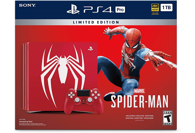 PS4 Pro 1TB Ed Spiderman Con juego fisico
