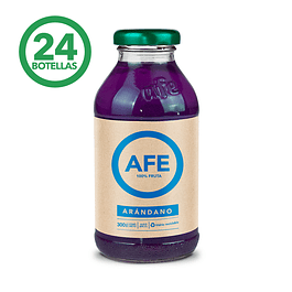 JUGO DE ARANDANO: 24 BOTELLAS AFE 300 ML