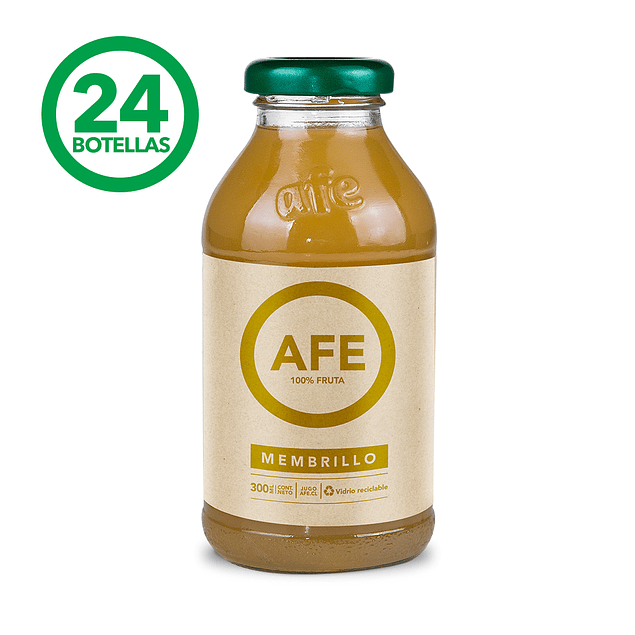 JUGO DE MEMBRILLO: 24 BOTELLAS AFE 300 ML